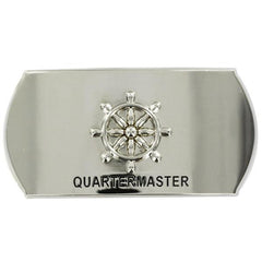 Navy Enlisted Specialty Belt Buckle: Quartermaster: QM