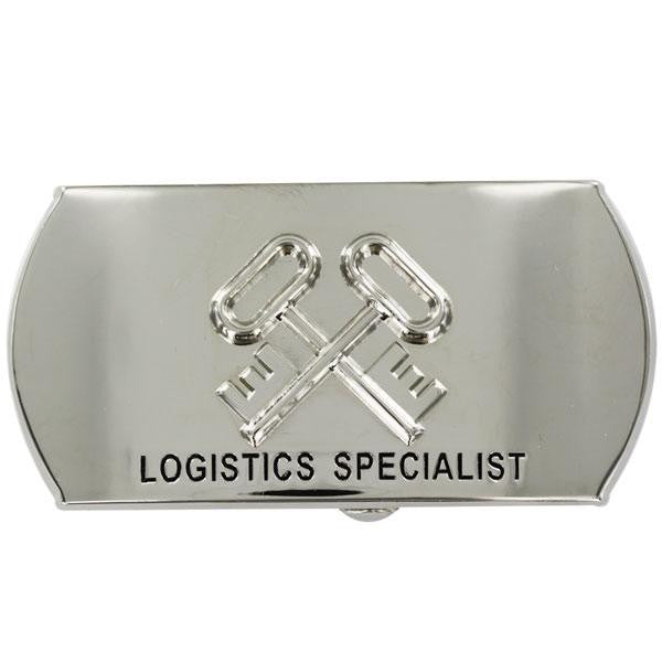 Navy Enlisted Specialty Belt Buckle: Logistics Specialist: SK LS