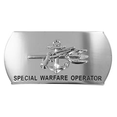 Navy Enlisted Specialty Belt Buckle: Special Warfare Operator: SO