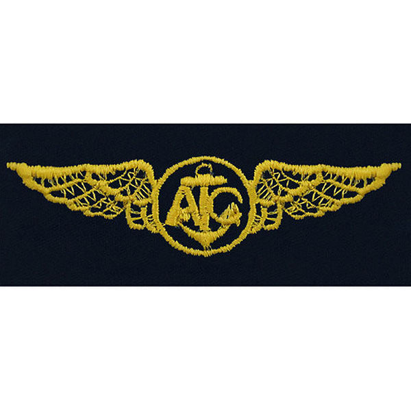 Navy Embroidered Badge: Air Crew - embroidered on coverall