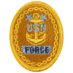 Navy Embroidered Badge: E9 Force - embroidered on coverall