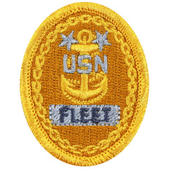 Navy Embroidered Badge: E9 Fleet - embroidered on coverall