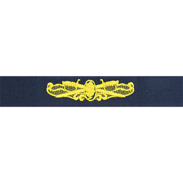 Navy Embroidered Badge: Surface Warfare Medical Service - coverall