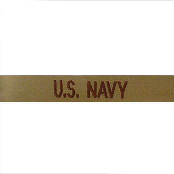 Navy Tape: U.S. Navy - embroidered on desert (NON-RETURNABLE)