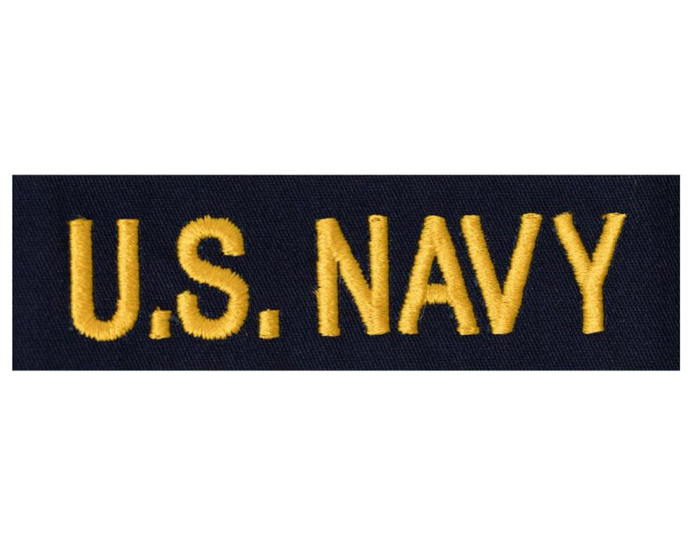 Navy Tape: U.S. Navy Officer - gold on coverall