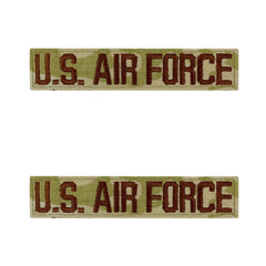 Air Force Tape: U.S. Air Force - embroidered on OCP with hook