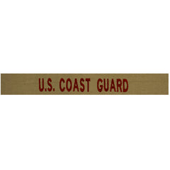 Coast Guard Tape: US Coast Guard - Bronze embroidered on Desert (NON-RETURNABLE)