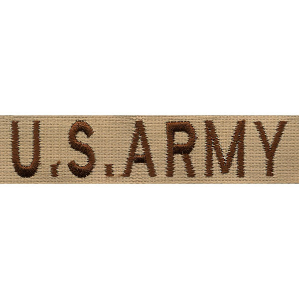 Army Tape: U.S. Army - embroidered on desert sand (NON-RETURNABLE)