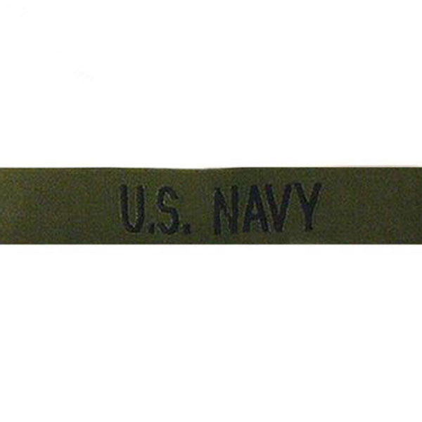 Navy Tape: U.S. Navy - black on olive drab