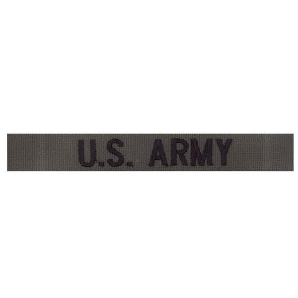 Army Tape: U.S. Army - black embroidered on olive drab