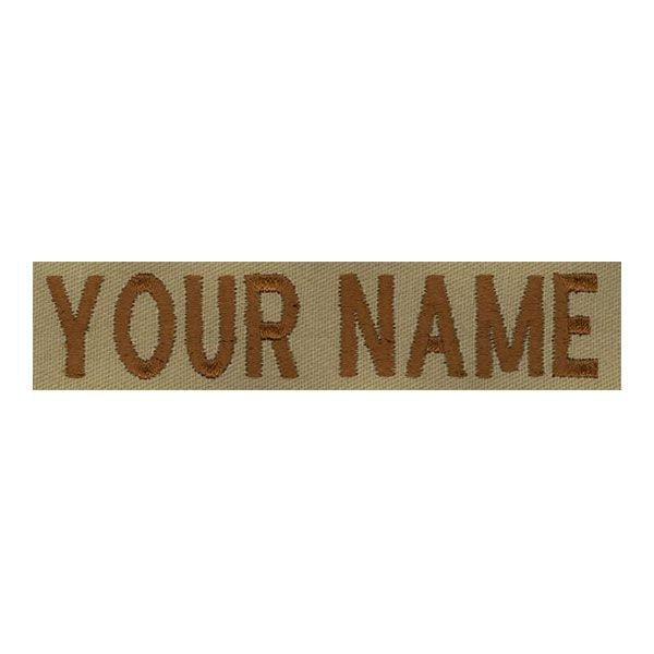 Name Tape: Embroidered on Desert -  (NAME IS REQUIRED-IF NO NAME IS GIVEN LINE ITEM WILL BE CANCELLED)