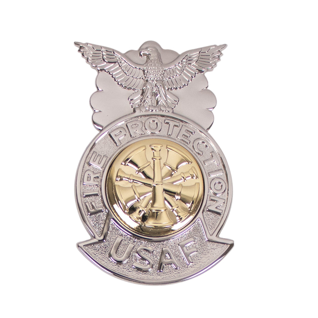 Air Force Badge: Fire Chief - regulation size
