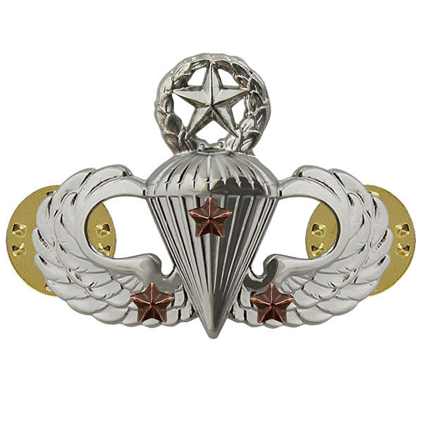 Army Badge: Master Combat Parachute Third Award - mirror finish