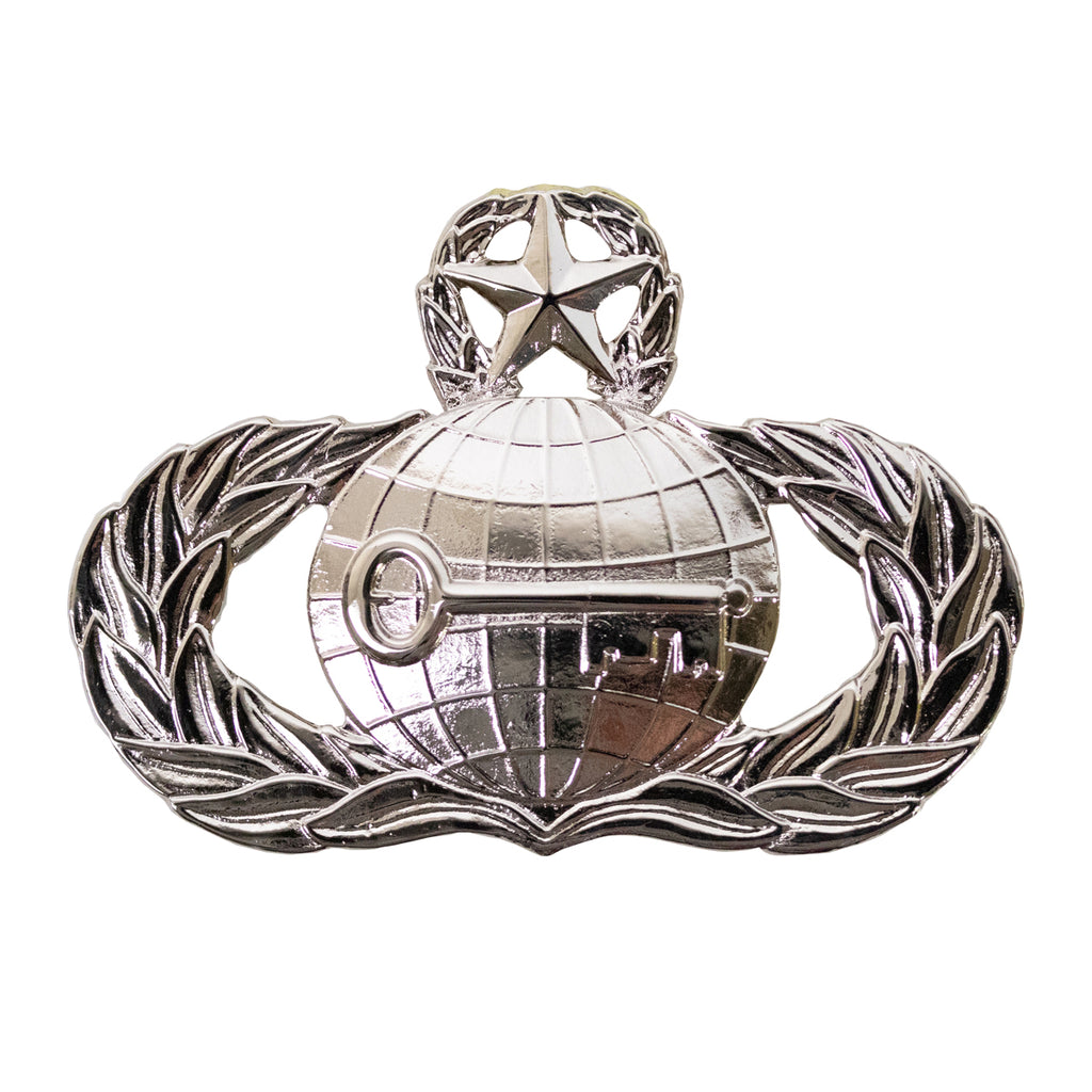 Air Force Badge: Intelligence: Master - regulation size