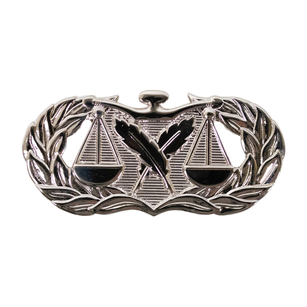 Air Force Badge: Paralegal - regulation size