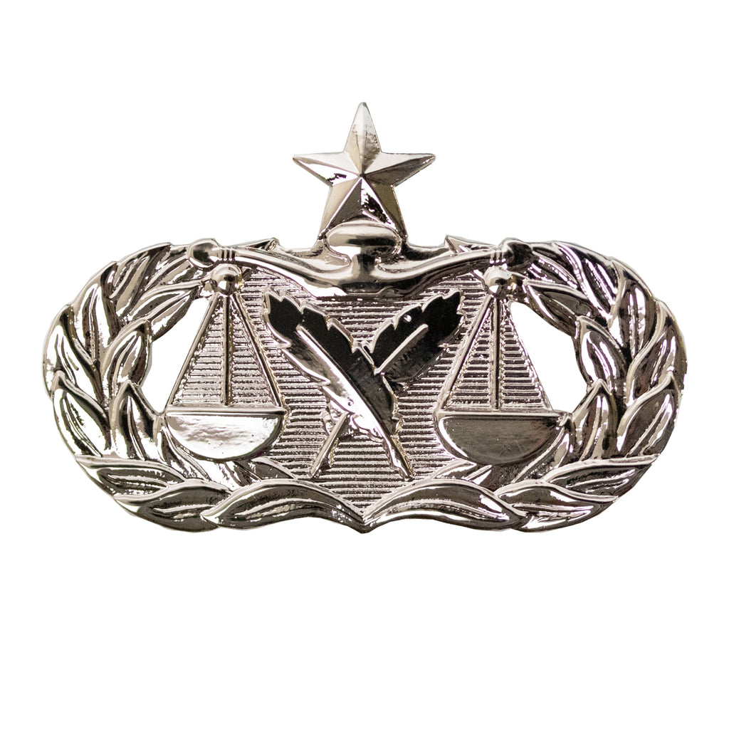 Air Force Badge: Paralegal: Senior - regulation size