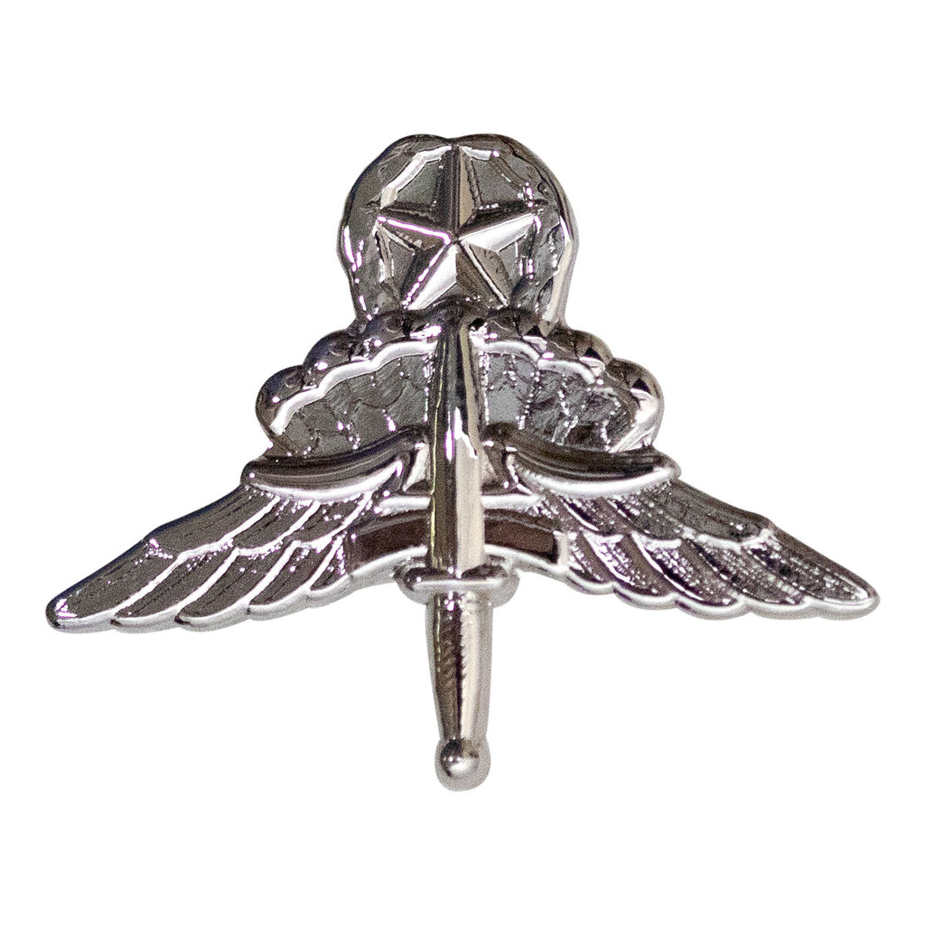Army Dress Badge: Master Freefall Jump Wing - miniature, mirror finish