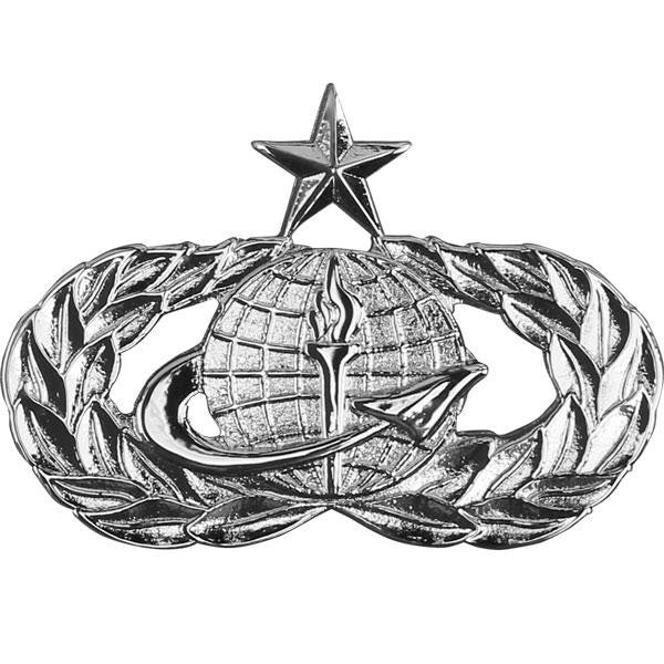 Air Force Badge: Officer Force Support: Senior - midsize