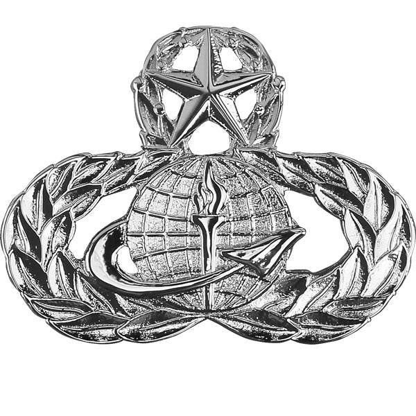 Air Force Badge: Officer Force Support: Master - midsize