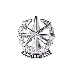 Army Identification Badge: Master Gunner - Mirror Finish Miniature