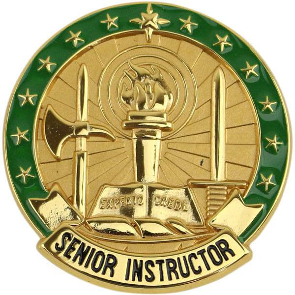 Army Identification Badge: Senior Instructor - Gold