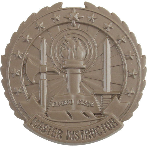 Army Identification Badge Subdued Metal: Master Instructor - Brown