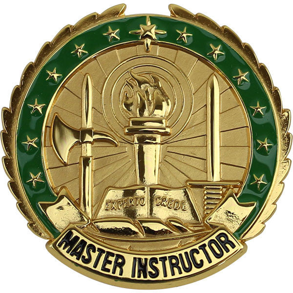 Army Identification Badge: Master Instructor - Gold