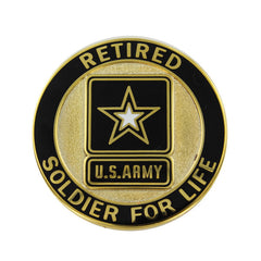 Army Identification Badge: Soldier for Life - Retired