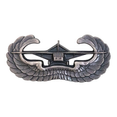 Army Badge: Airborne Glider - silver oxidized finish