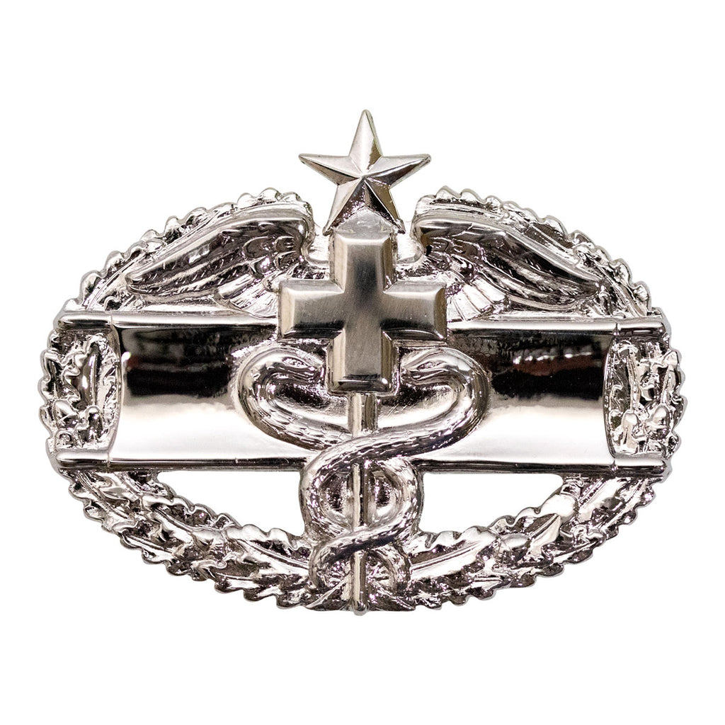 Army Badge: Combat Medical Second Award - mirror finish