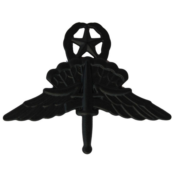 Army Badge: Freefall Jump Wings Master - regulation size, black metal