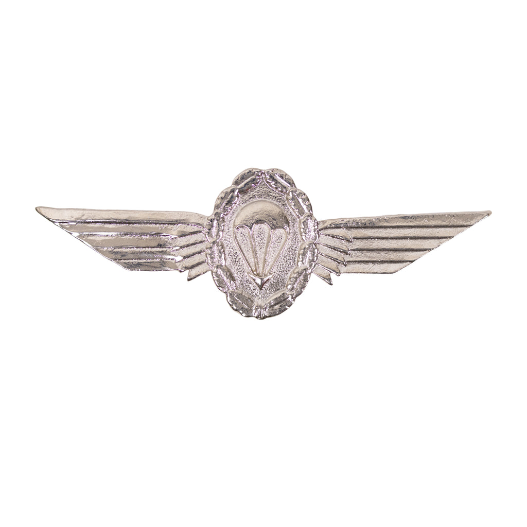 Badge: German Jump Wings Silver with Silver Wreath Regulation size