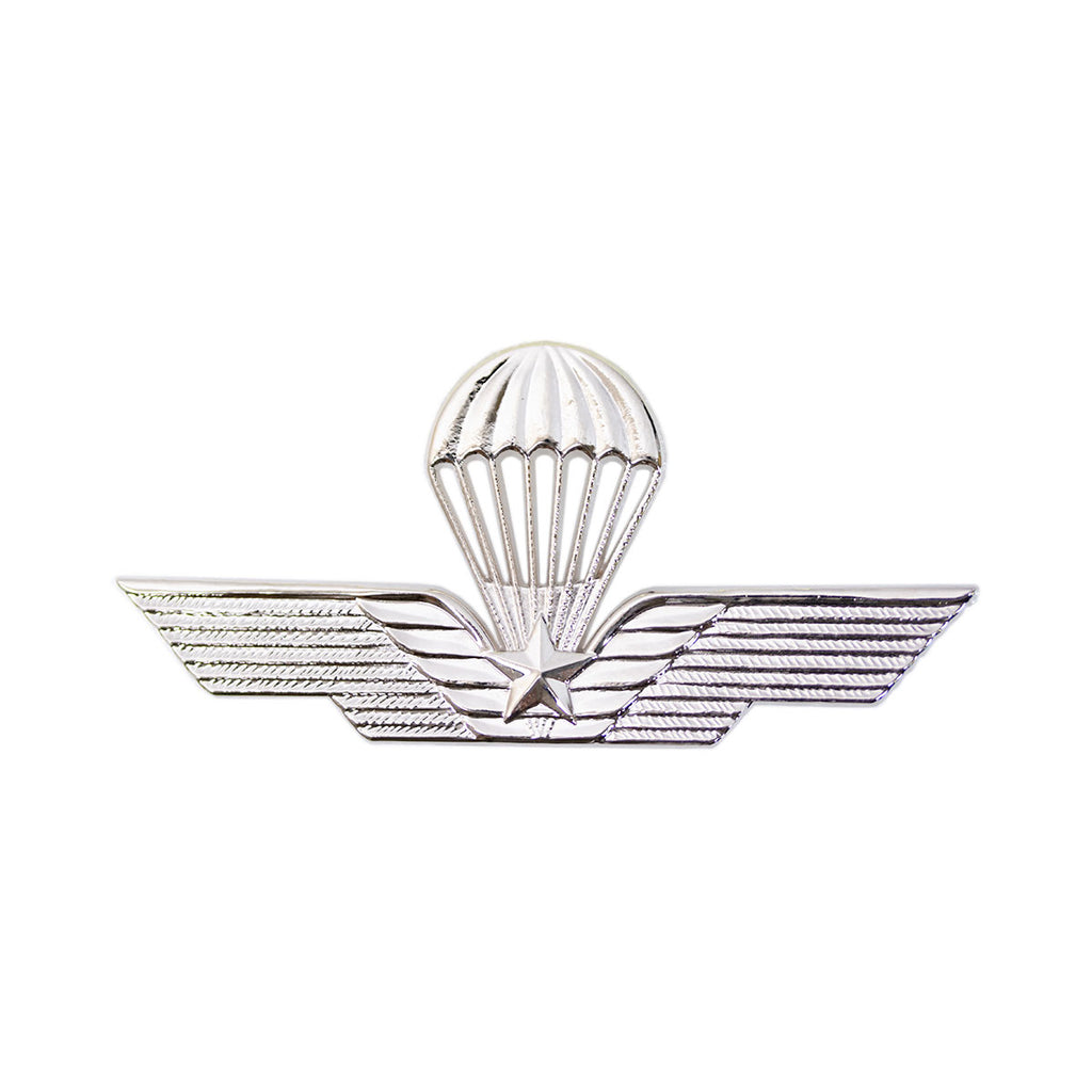 Badge: Italian Jump Wings - Silver Regulation size