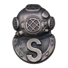 Army Badge: Salvage Diver - silver oxidized