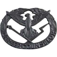 Army Badge: Career Counselor - black metal
