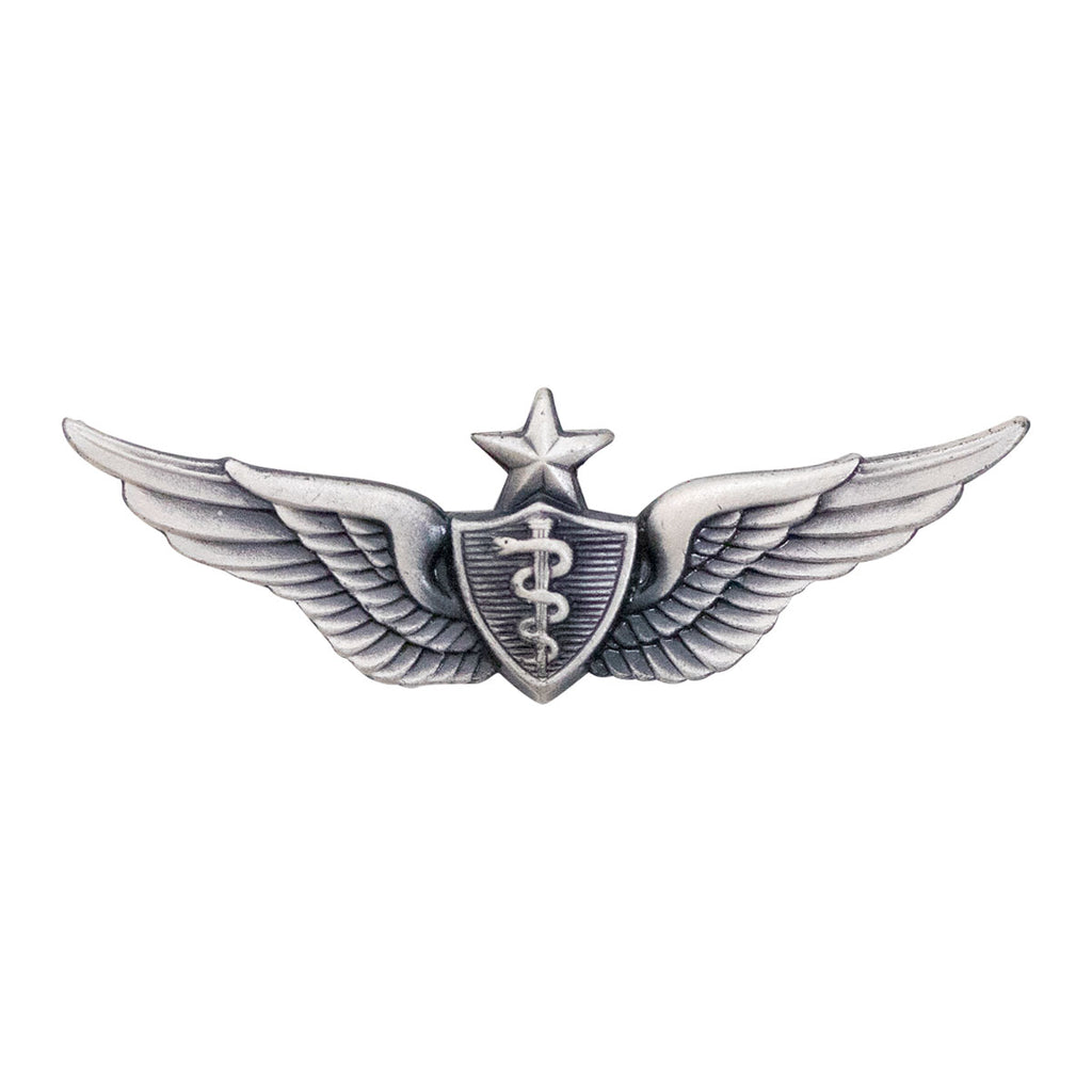 Army Dress Badge: Senior Flight Surgeon - miniature, silver oxidized