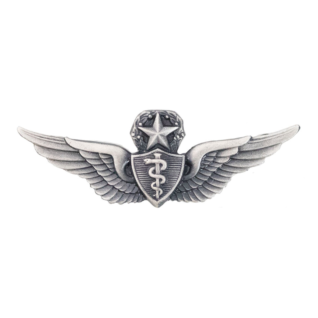 Army Dress Badge: Master Flight Surgeon - miniature, silver oxidized