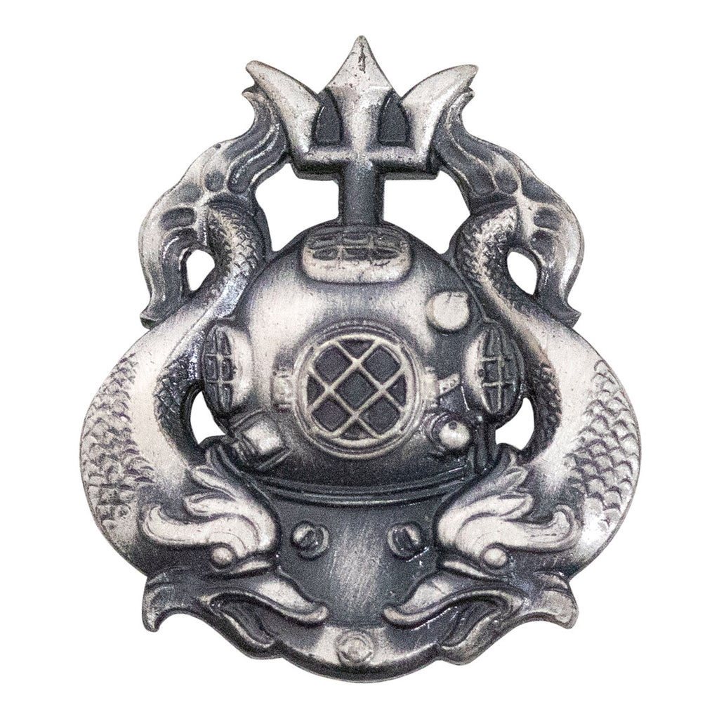 Army Dress Badge: Master Diver - silver oxidized