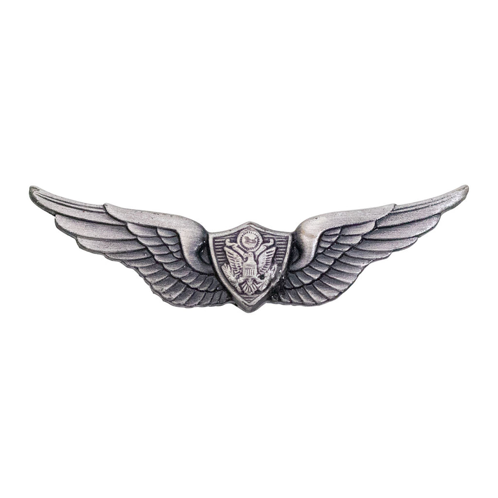 Army Dress Badge: Aircraft Crewman: Aircrew - miniature, silver oxidized