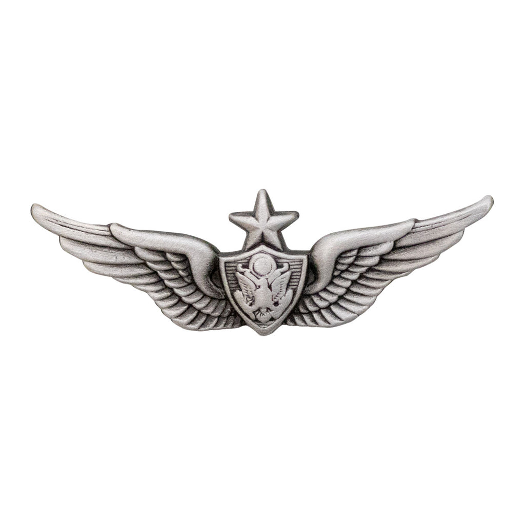 Army Dress Badge: Senior Aircraft Crewman: Aircrew - miniature, silver oxidized