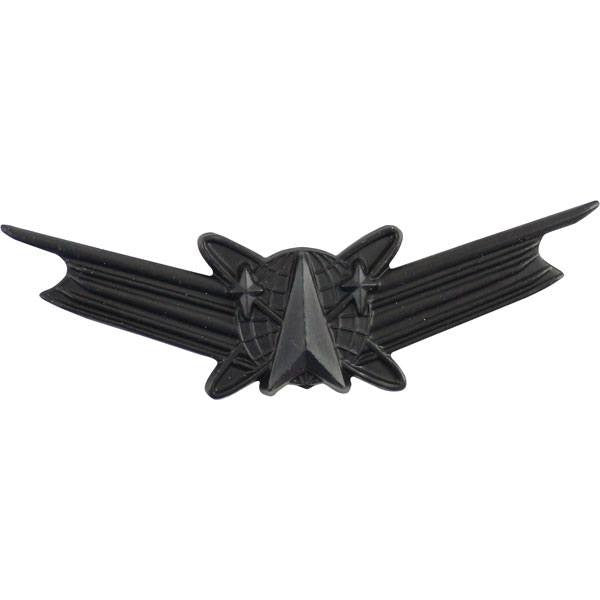 Army Badge: Space Command - regulation size, black metal