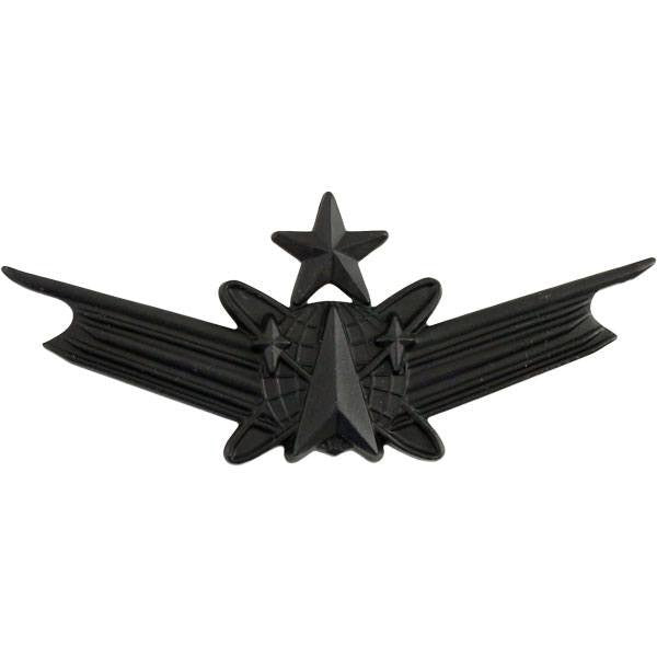 Army Badge: Senior Space Command - regulation size, black metal