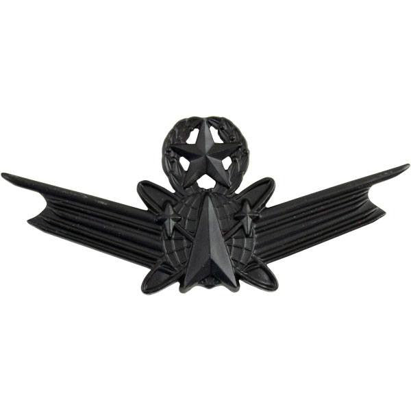 Army Badge: Master Space Command - regulation size, black metal