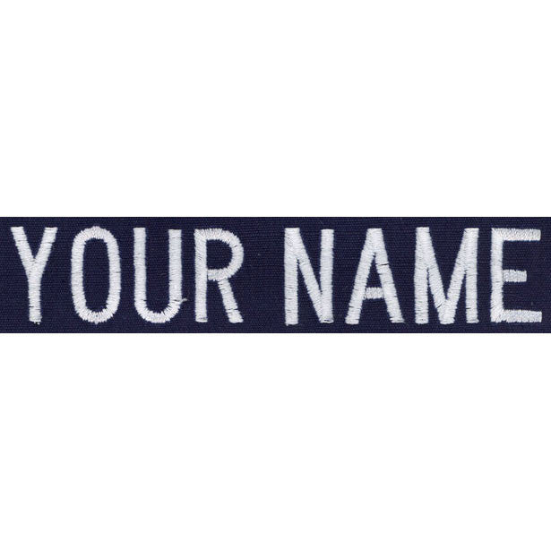 Coast Guard Name Tape: Individual - name embroidered on blue Ripstop -  (NAME IS REQUIRED-IF NO NAME IS GIVEN LINE ITEM WILL BE CANCELLED)