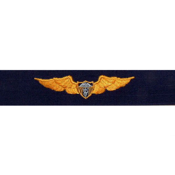 Coast Guard Embroidered Badge: Flight Surgeon - Ripstop fabric