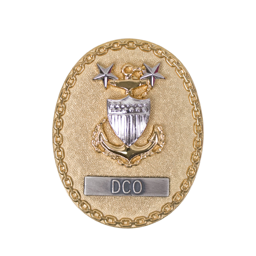 Coast Guard Badge: Enlisted Advisor E9 DCO: regulation size