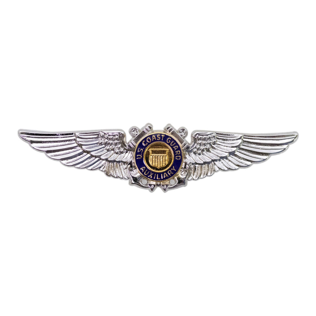 Coast Guard Auxiliary Badge: Aviator Wing - regulation size