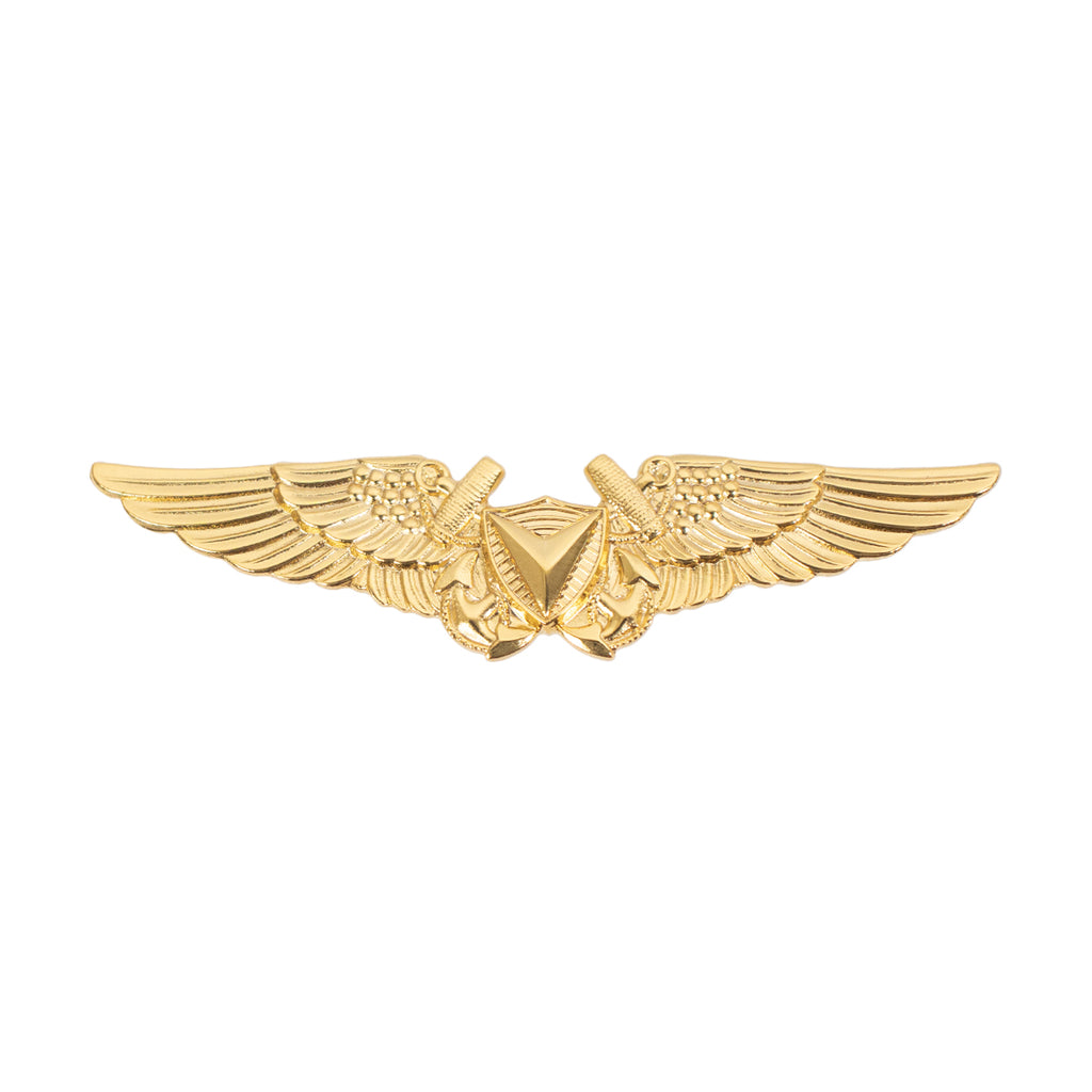 Marine Corps Badge: Unmanned Aircraft Systems (UAS) Officer Miniature Size - 24K Gold Plated
