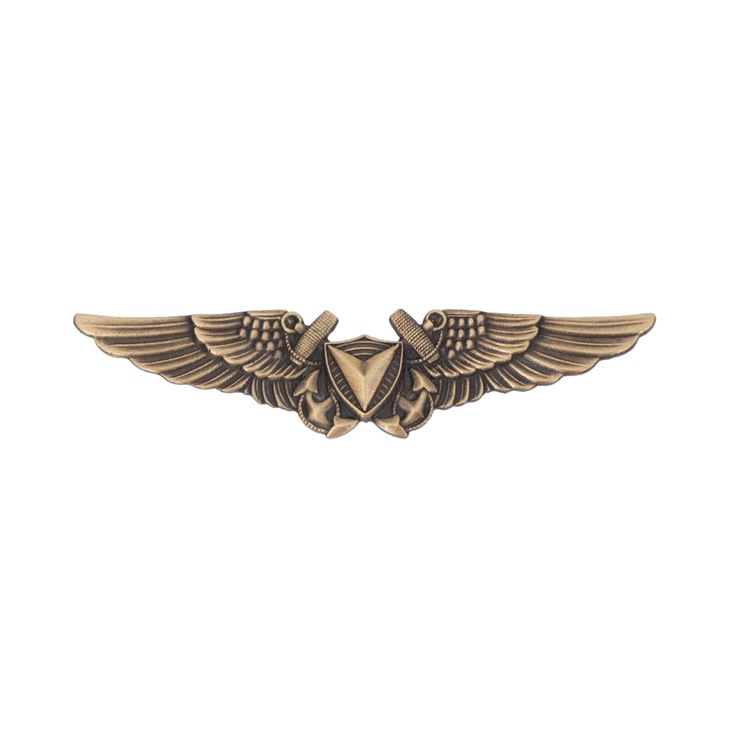 Marine Corps Badge: Unmanned Aircraft Systems  (UAS) Officer Regulation Size - Bronze Plated