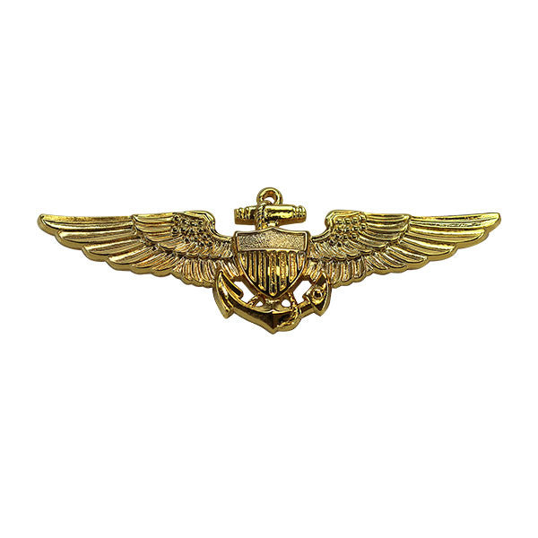 Navy Badge: Aviator - regulation size, gold mirror finish